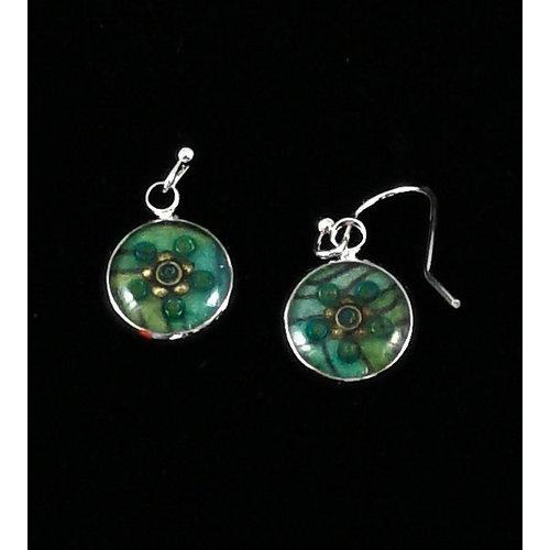 Nimanoma Finch  Art round drop earrings  26