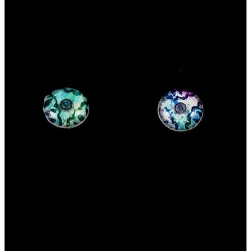 Nimanoma Reveal Art round stud earrings  33
