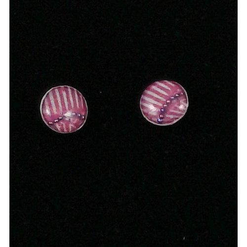 Nimanoma Songbird Art round stud earrings  34