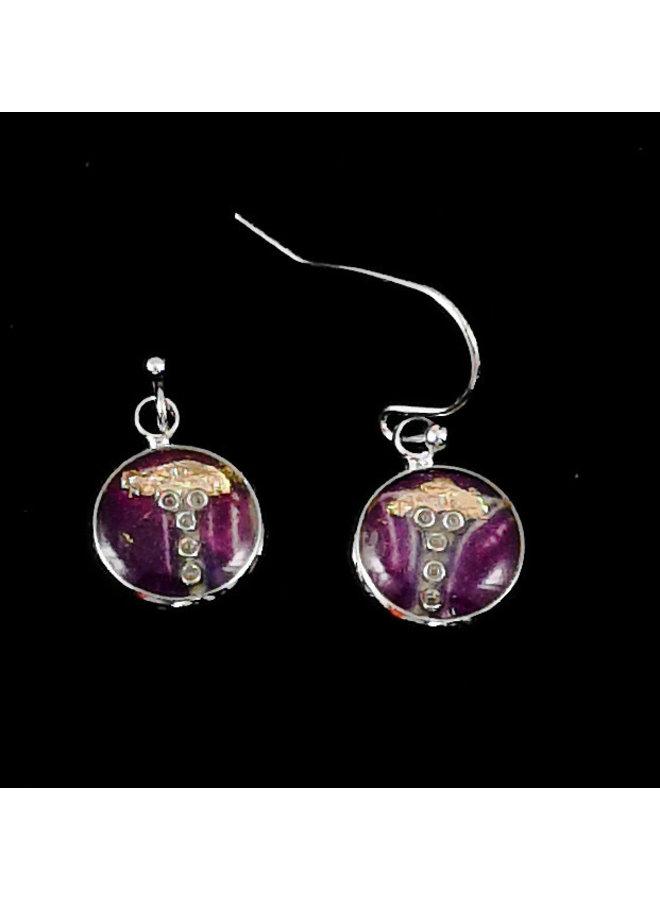 Soprano Art round drop earrings  25