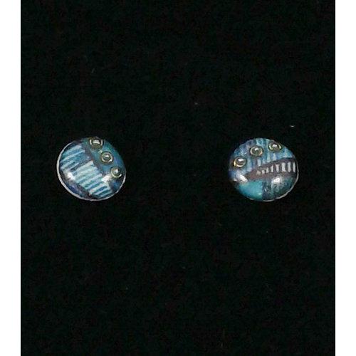 Nimanoma Wonder Art round stud earrings  29