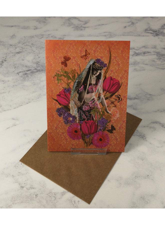 Veil Vintage Glitter Card
