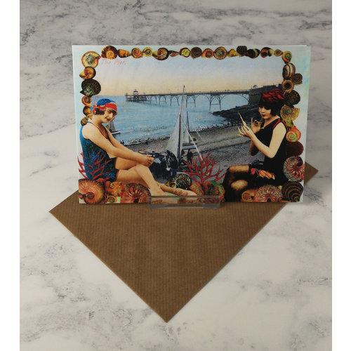 Diana Wilson Pier Vintage Glitter Card 63