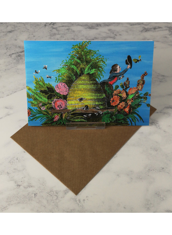 Beehive Vintage Glitter Card 62