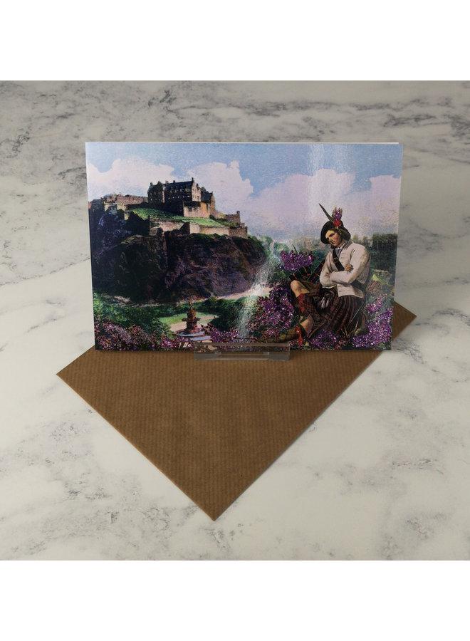 Edinburgh Vintage Glitter Card