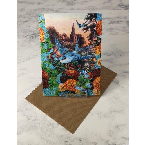 Diana Wilson Bluebird Vintage Glitter Card 40