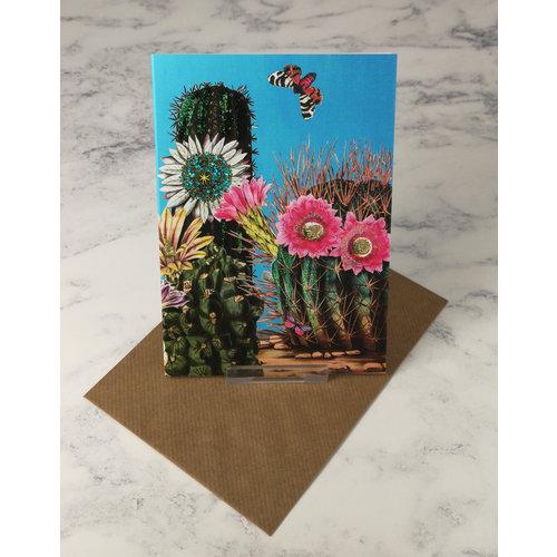 Diana Wilson Big Cacti 2  Vintage Glitter Card 59