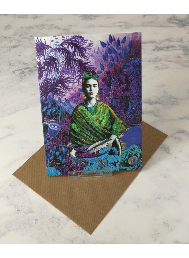 Dreaming of Frida 3  Vintage Glitter Card 60