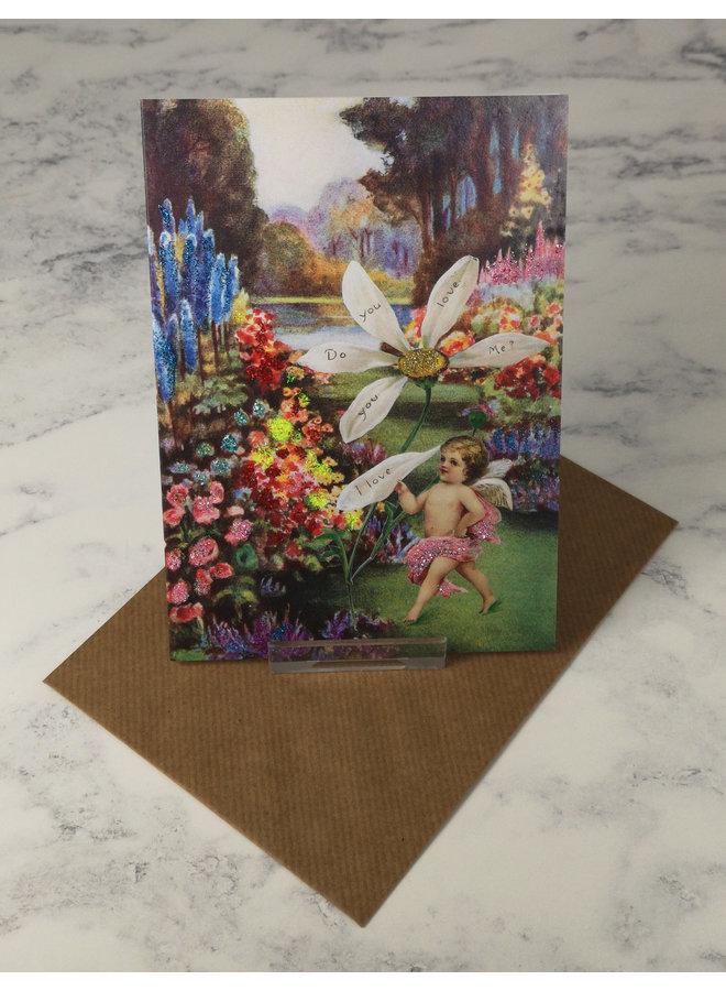 Daisy Love Vintage Glitter Card 61