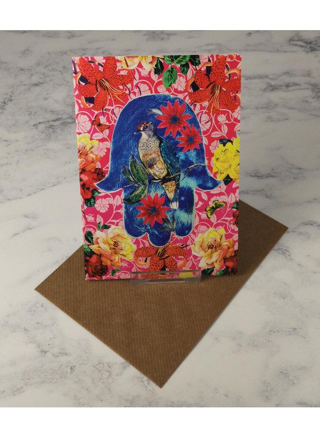 Hamsa Vintage Glitter Card