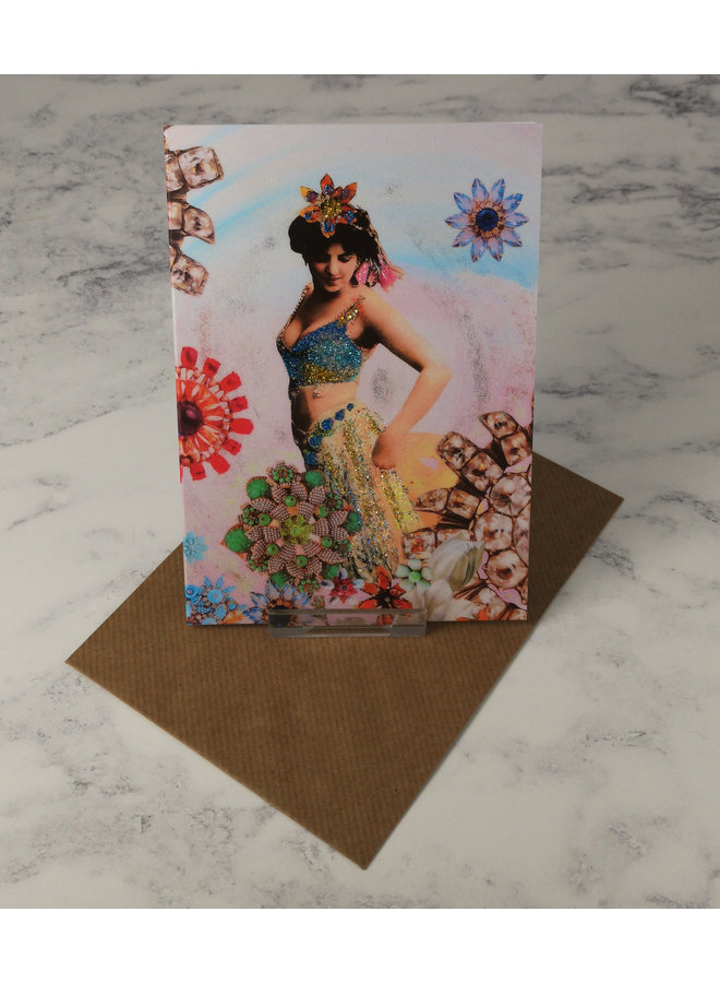 Star Vintage Glitter Card