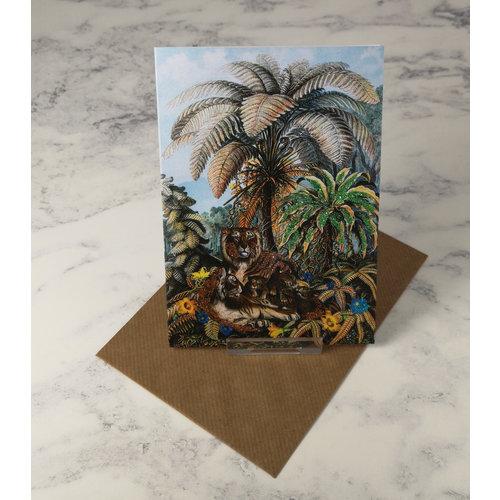Diana Wilson Big Cats Vintage Glitter Card
