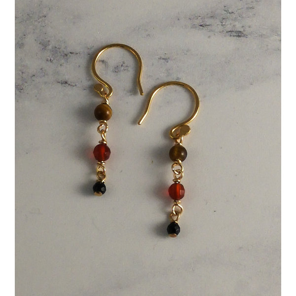 Delicate Ember drop earrings 34