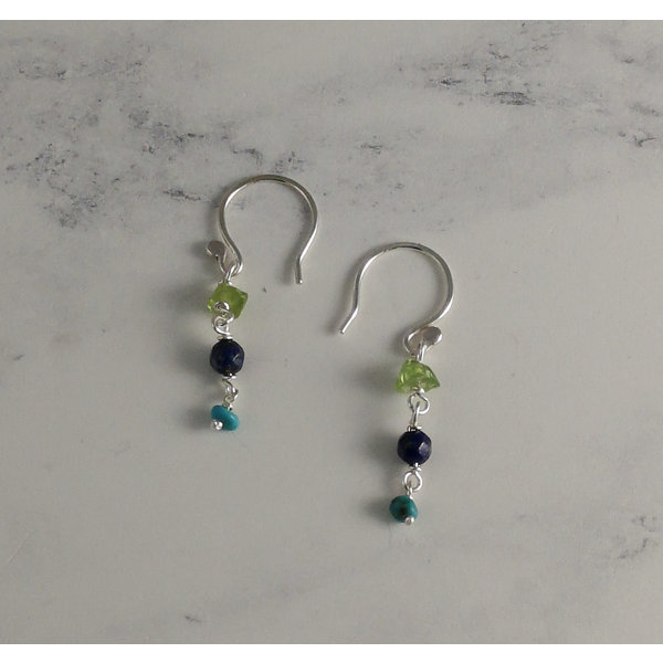 Delicate Lagoon drop earrings 32