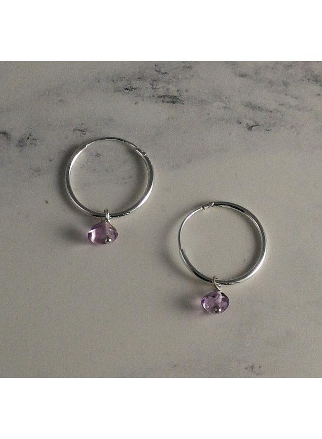Fragment Amethyst hoop earrings 35