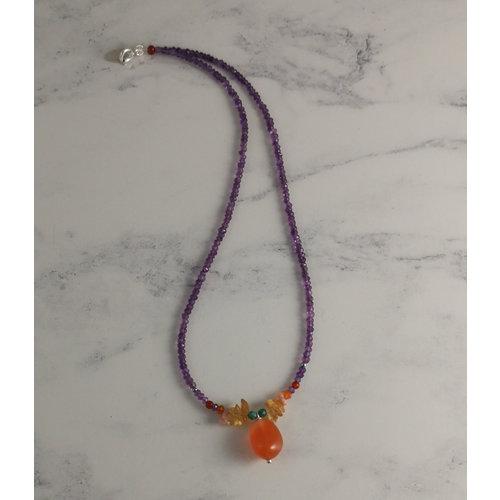 Katherine Bree Karneol-Amethyst-Halskette zur Sonnenwende 42