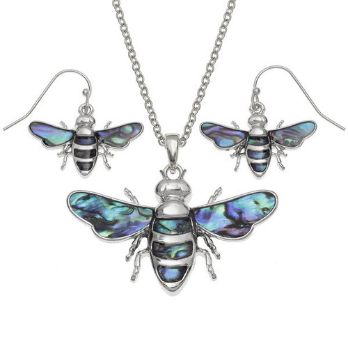 Tide Jewellery Bee flying inlaid necklace 108