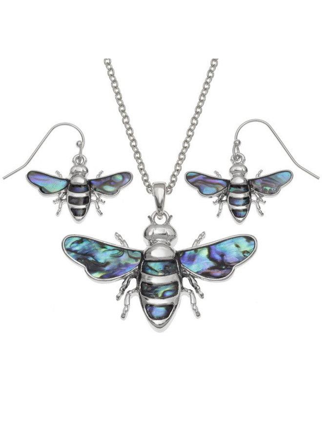 Biene fliegt eingelegte Halskette 108