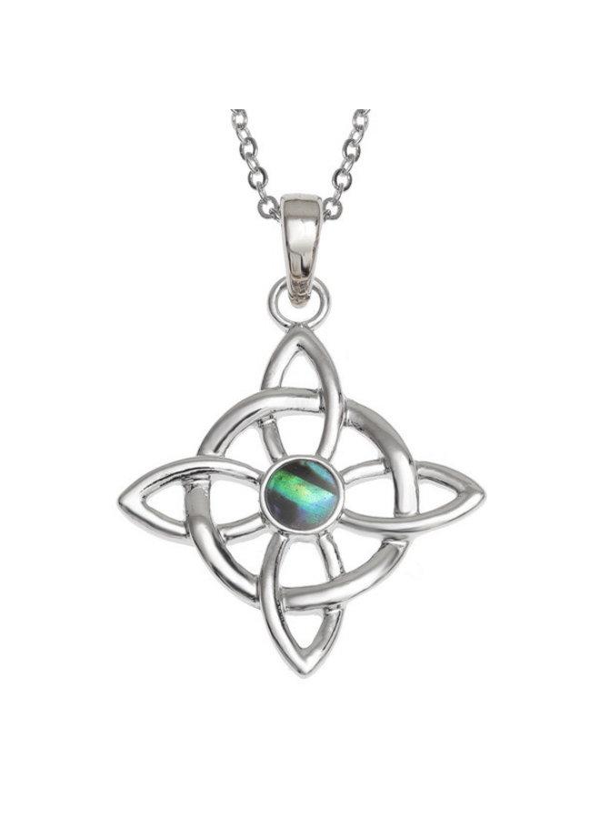 Celtic Good Luck Knot eingelegte Halskette107