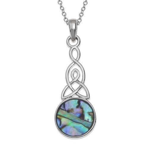 Tide Jewellery Collar de concha redonda nudo celta 111