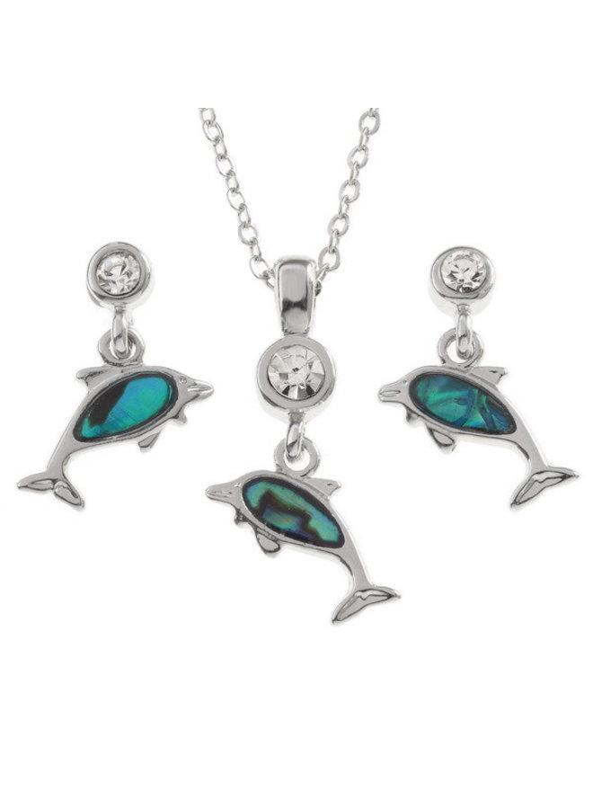 Delphin kleine Paua Muschel Ohrstecker 120