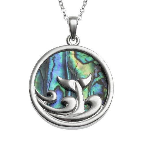 Tide Jewellery Collar de conchas Paua Dolphin y Wave 118
