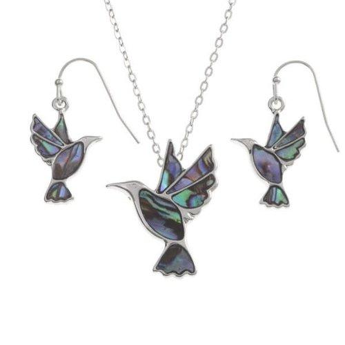 Tide Jewellery Hummngbird  Paua shell  earrings 124