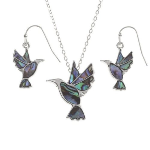 Tide Jewellery Pendientes de concha Hummngbird Paua 124