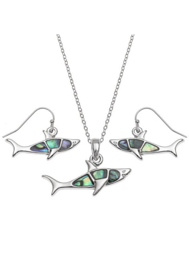 Shark Paua Muschel Ohrringe 114