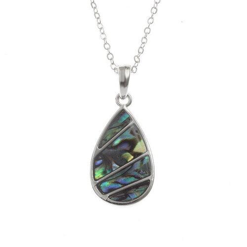 Tide Jewellery Collar de conchas de Paua con incrustaciones de lágrima