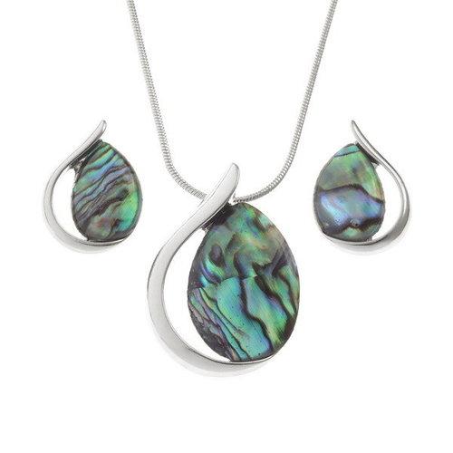 Tide Jewellery Teardrop Paua shell stud earrings 126