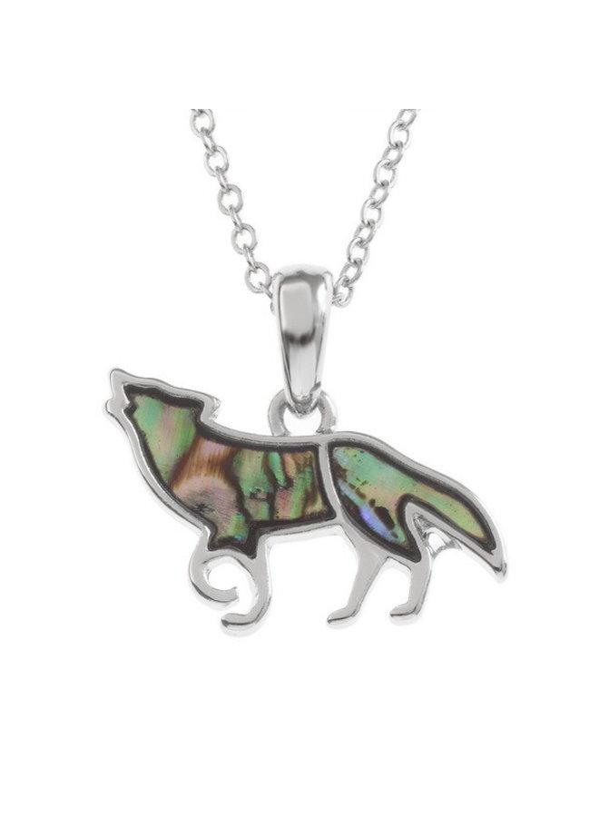 Wolf Paua Muschel Halskette 118