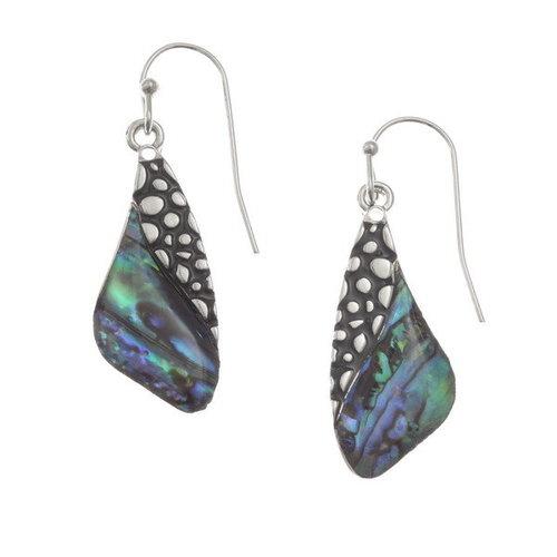 Tide Jewellery Wing paua shell earrings 131