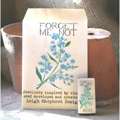 Leigh Shepherd Designs Forget me Not Domino  Brooch 34