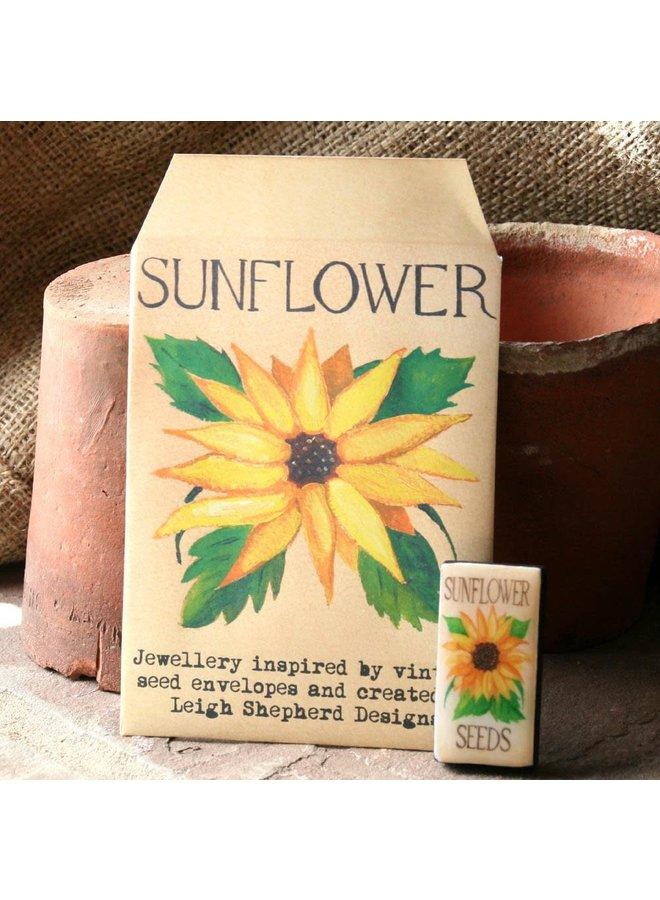 Sonnenblumen Domino Brosche 35