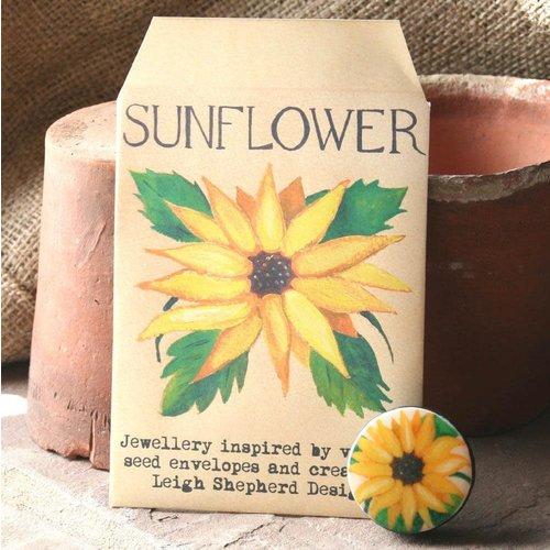 Leigh Shepherd Designs Sonnenblume Entwürfe Brosche 28