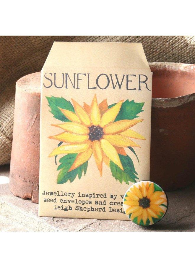 Sonnenblume Entwürfe Brosche 28
