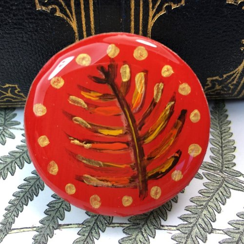Leigh Shepherd Designs Woodland Red Drafts Piece Brosche auf Karte 60