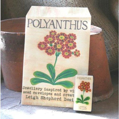 Leigh Shepherd Designs Polyanthus Domino Broche 37
