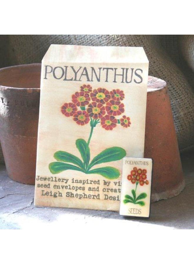 Polyanthus Domino Brosche 37