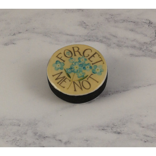 Leigh Shepherd Designs Forget me not Draughts Brooch 29