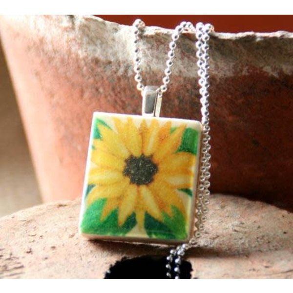 Sunflower Scrabble I Tile Pendant and Tin 11