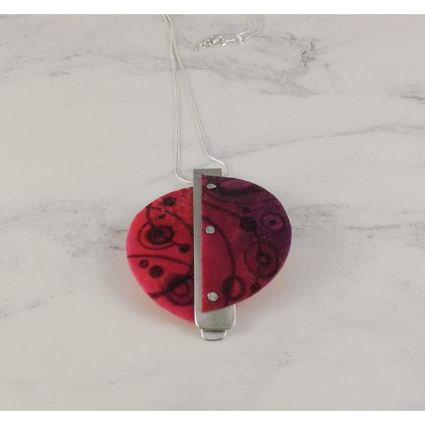 Miro pendant recylced plastic / aluminium Pink 22