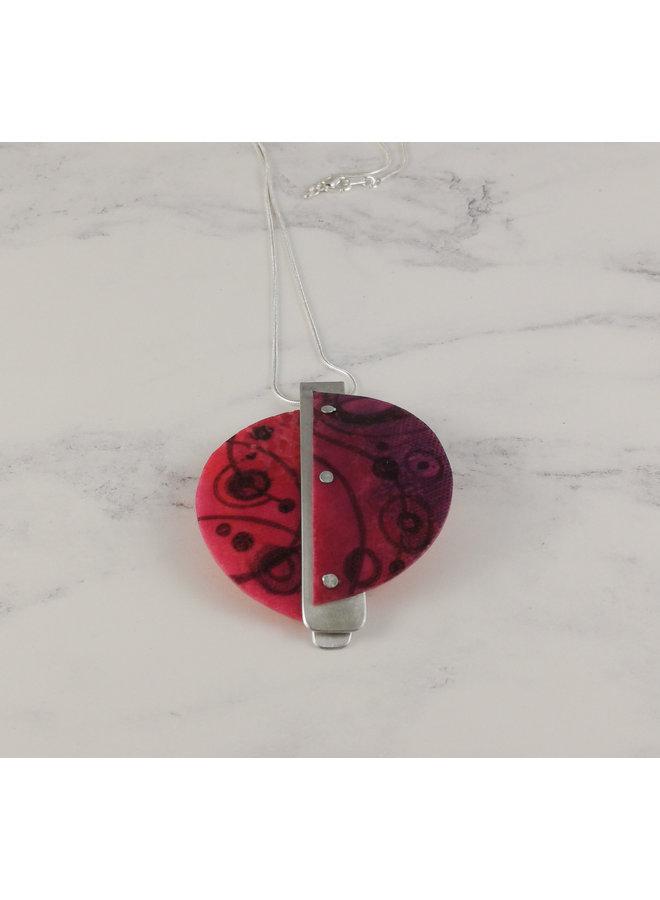 Miro Anhänger aus recyceltem Kunststoff / Aluminium Pink 22