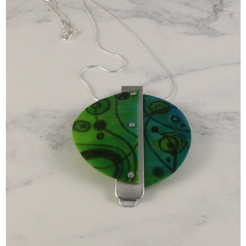 Anna Roebuck Miro pendant recylced plastic / aluminium Green 20