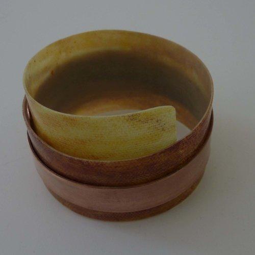 Anna Roebuck Brazalete ajustable siena reclinada - cobre 09