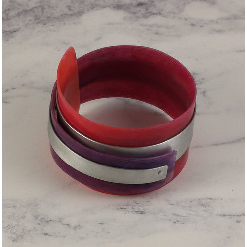 Anna Roebuck Armreif verstellbare recycelte Rosa - Aluminium 16