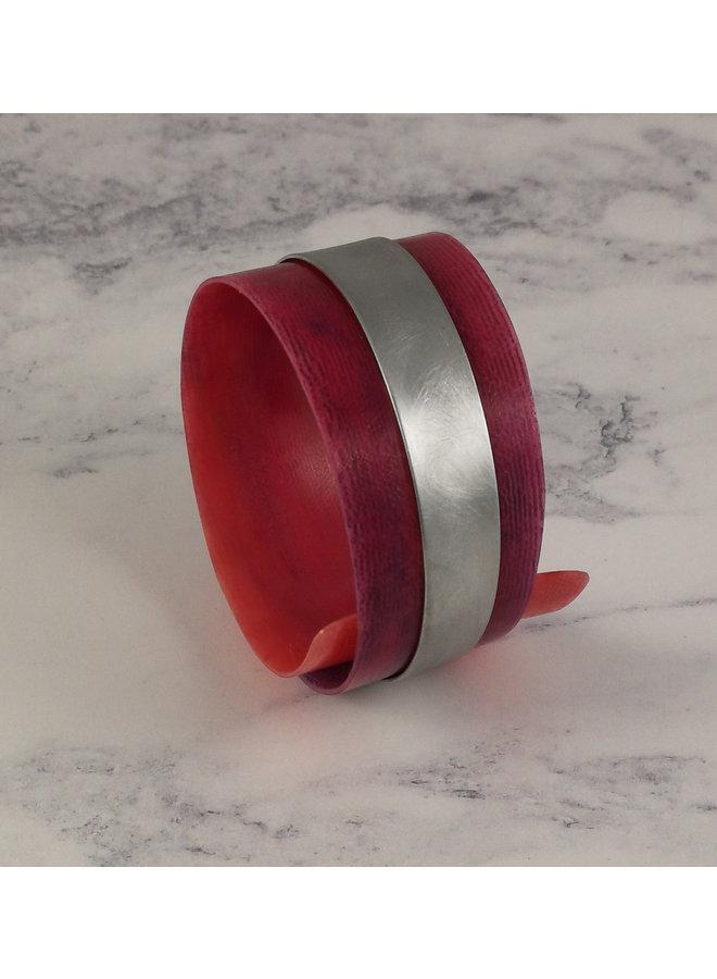 Armreif verstellbare recycelte Rosa - Aluminium 16