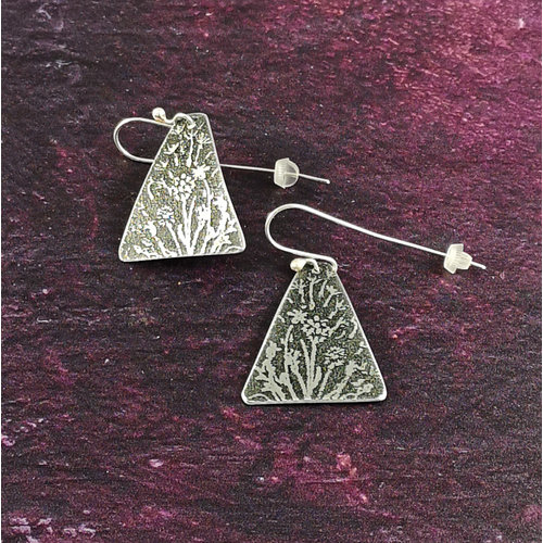 Anna Roebuck Foget me not metal light Triangle long hook earrings 54