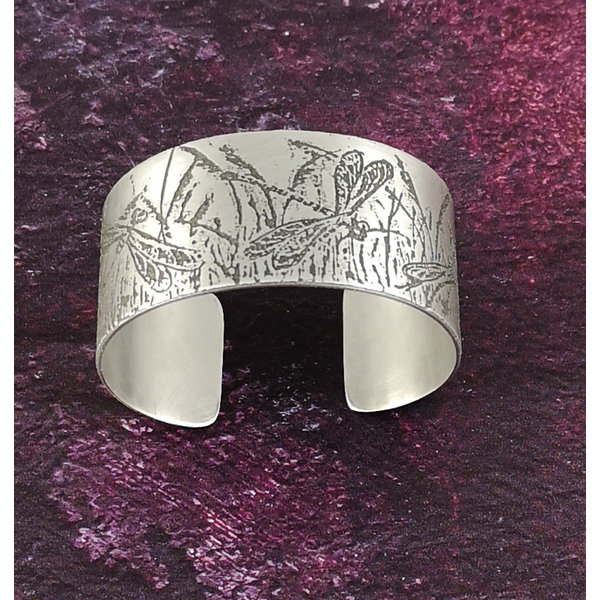 Bangle cuff Dragonfly light metal 29